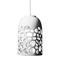 Подвесной светильник Ceramika Design Bionics белого цвета, фото