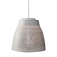 Подвесной светильник Ceramika Design Pivnyki Luminous 33.5 см с перфорацией в этно стиле, фото