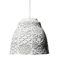 Подвесной светильник Ceramika Design Slavyanskiy kod 40 см с подвеской красного цвета, фото