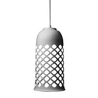 Подвесной светильник Ceramika Design Ajur 3D с ажурным плафоном белого цвета, фото