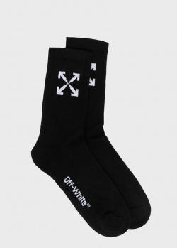 Черные носки Off-White с логотипом, фото