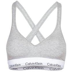Серый топ Calvin Klein с фирменной тесьмой, фото