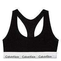 Черный топ Calvin Klein Modern Cotton Bralette с логотипом, фото