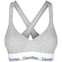 Хлопковый топ Calvin Klein серого цвета, фото