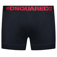 Черные боксеры Dsquared2 с брендовой надписью, фото