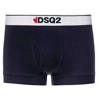 Темно-синие боксеры Dsquared2 на белой резинке, фото
