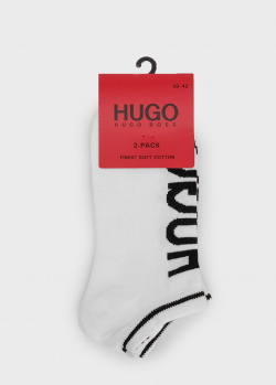 Белые носки Hugo Boss Hugo с логотипом, фото