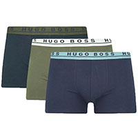 Набор удлиненных боксеров Hugo Boss с контрастной резинкой, фото