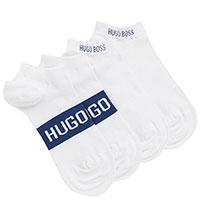 Короткие носки Hugo Boss белые с синим, фото