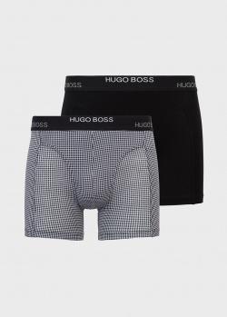 Набор боксеров Hugo Boss с лого на резинке 2шт, фото