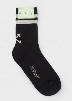 Черные носки Off-White из смесевого хлопка, фото