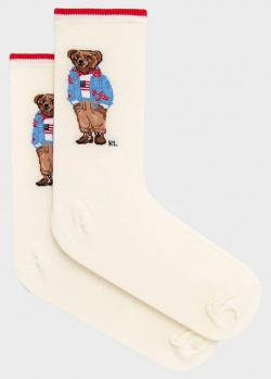 Женские длинные носки Polo Ralph Lauren с рисунком, фото