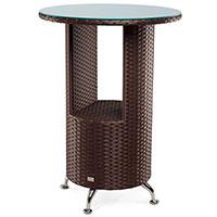 Стол Pradex Барный круглой формы из ротанга, фото