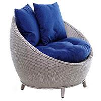 Кресло Pradex Киви серого цвета с объемными подушками, фото