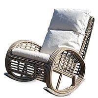 Плетеное кресло-качалка Skyline Design Dynasty Kubu Mushroom для отдыха дома или в саду, фото