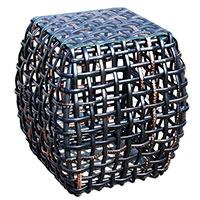 Столик приставной Skyline Design Dynasty с темной плетеной основой, фото