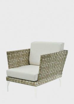 Глубокое балконное кресло из искусственного ротанга с мягкой подушкой Skyline Design Brafta, фото