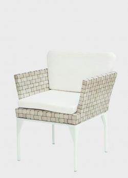 Плетеное обеденное кресло из техноротанга с мягкой подушкой Skyline Design Brafta, фото
