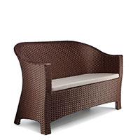 Двухместный диван Pradex Комфорт коричневого цвета , фото