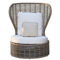 Плетеное кресло Skyline Design Drone с подушками , фото