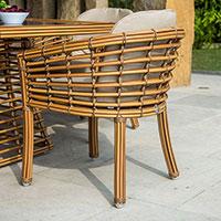 Кресло обеденное Skyline Design Villa Natural Mushroom, фото