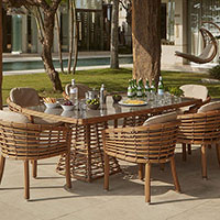 Стол обеденный Skyline Design Villa Natural Mushroom ручного плетения, фото