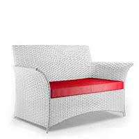 Лаунж-диван Pradex Патио с сидением красного цвета, фото
