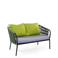 Диван Pradex Твист с подушками ярко-зеленого цвета, фото
