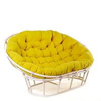 Диван Pradex Папасан с сидением в виде подушки лимонного цвета, фото
