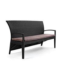 Трехместный Диван Pradex Калифорния черного цвета, фото