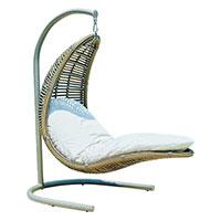 Кресло подвесное Skyline Design Christine Hanging из искусственного ротанга, фото