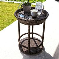 Столик сервировочный Skyline Design Cally ручного плетения, фото