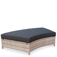 Пуф Pradex Сиеста с подушкой черного цвета, фото
