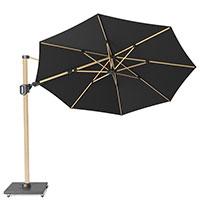 Зонт Platinum Challenger T2 с двойным наклоном черного цвета, фото
