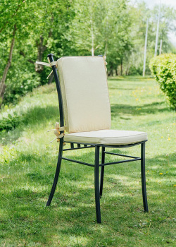 Черный стул Villa Grazia с высокой спинкой, фото