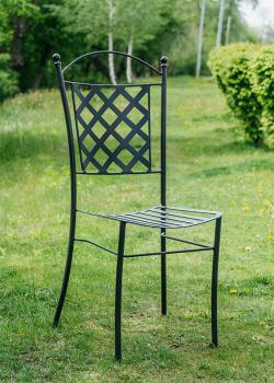 Черный стул Villa Grazia из металла, фото