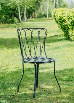 Металлический стул Villa Grazia с круглым сиденьем, фото