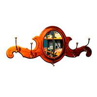 Зеркало Capanni с металлическими крючками и зеркалом, фото