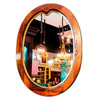 Овальное зеркало Capanni 80х60см, фото