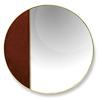 Настенное зеркало Borzalino Halfmoon 55см, фото