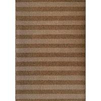Коричневый ковер SL Carpet Cord в полоску 160x230см, фото