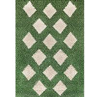 Ковер зеленого цвета Ґушка из шерсти 123х196см, фото