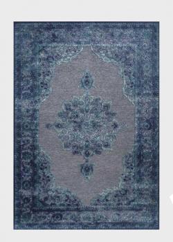 Мягкий ковер для дома SL Carpet Farashe синего цвета 160х230см, фото