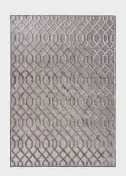 Серый ковер SL Carpet Farashe для дома с геометрическим узором 160х230см, фото