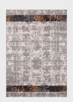 Серый ковер SL Carpet Afrika с фактурным узором (улица, дом) 133х190см, фото