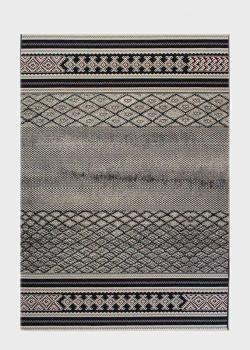 Серый ковер SL Carpet Afrika с геометрическим рисунком (улица, дом) 160х230см, фото