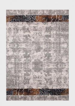 Серый ковер SL Carpet Afrika с фактурным узором (улица, дом) 160х230см, фото
