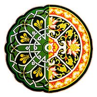 Ковер Seletti Hybrid Perinzia зеленого цвета, фото