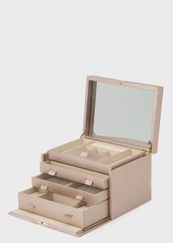 Золотисто-розовая шкатулка для украшений Wolf 1834 Palermo, фото