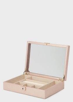 Шкатулка для украшений Wolf 1834 Palermo нежно-розового цвета, фото